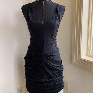 Stunning pleated drape dress